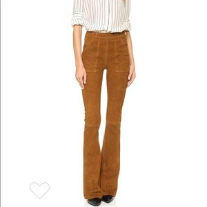 FRAME Flare Suede Pants